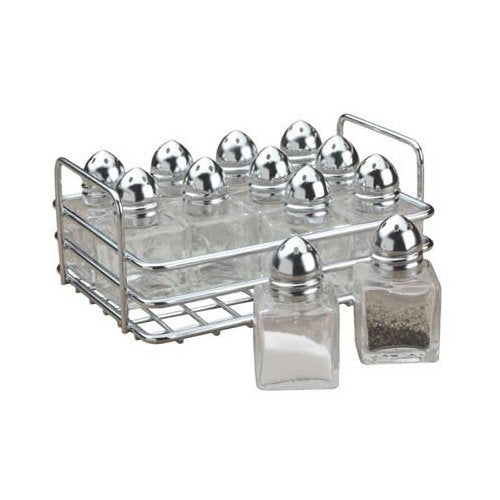 Mini Salt & Pepper Shakers with Rack