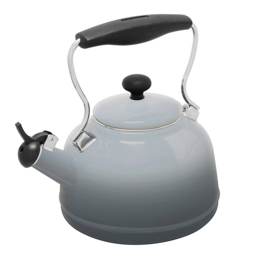 1.7qt. Enamel-on-Steel Lake Grey Teakettle - Fade Grey