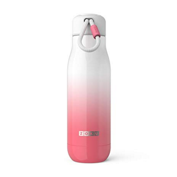 Zoku Pink Ombre 18oz Stainless Bottle