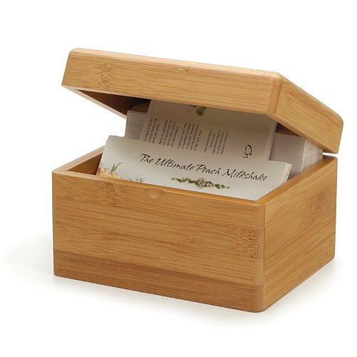 RSVP Endurance Bamboo Recipe Box