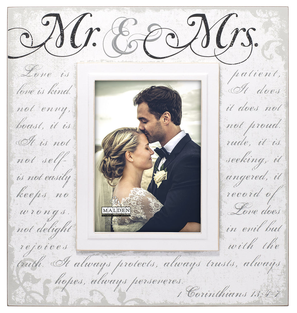 (4 pcs)5x7 Mr.& Mrs. Corinthian Large Script
