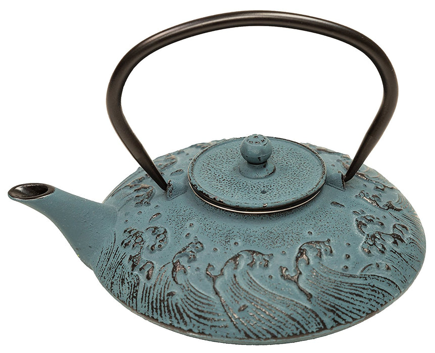 Cast Iron Teapot - Tranquility Waves - 27oz