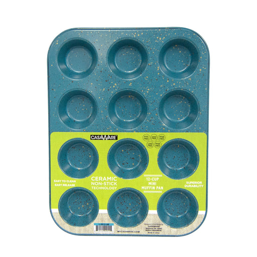 Blue Granite Mini Muffin Pan 12 Cup