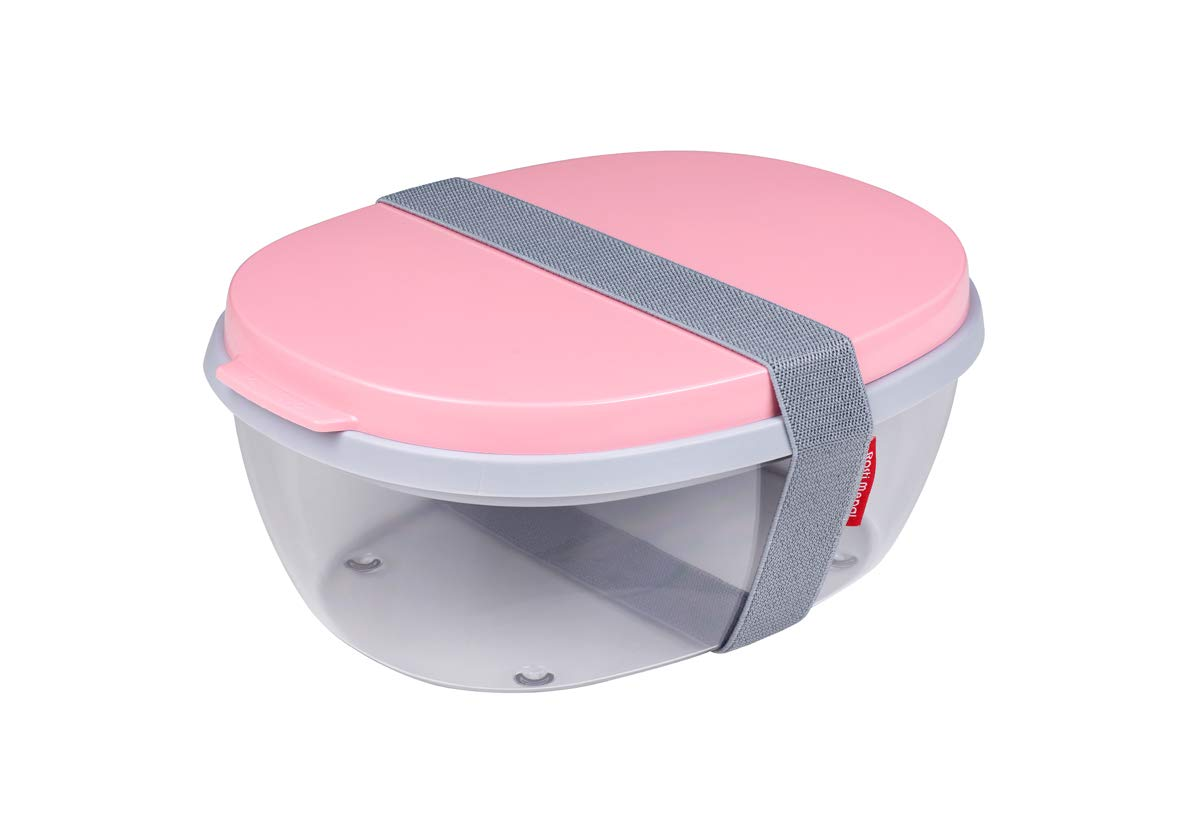 "ELLIPSE Duo-Salad Box 22.5x17.5cm/9x7"" Nordic-Pink"