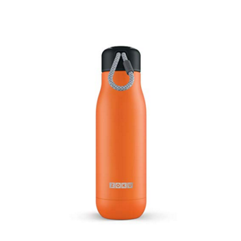 Zoku Stainless Steel Water Bottle 18-Ounce; Orange