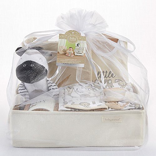 Safari 9-piece Baby Gift Basket