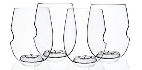 "The govino ""Go Anywhere"" Classic Series Stemless Wine/Cocktail Glasses Flexible Shatterproof Recyclable, 12-ounce, Bulk Case of 72"