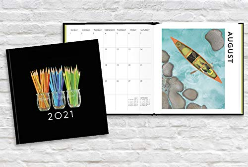 Linnea Design 2021 Monthly Planner and Appointment Book with Original Art by Johanna Riley