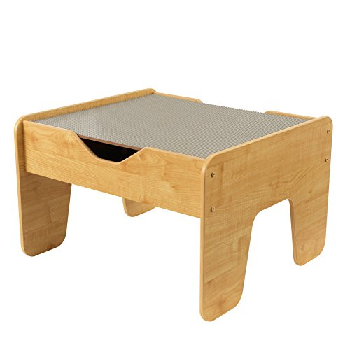 KidKraft 2-in-1 Activity Table with Board, Gray/Natural