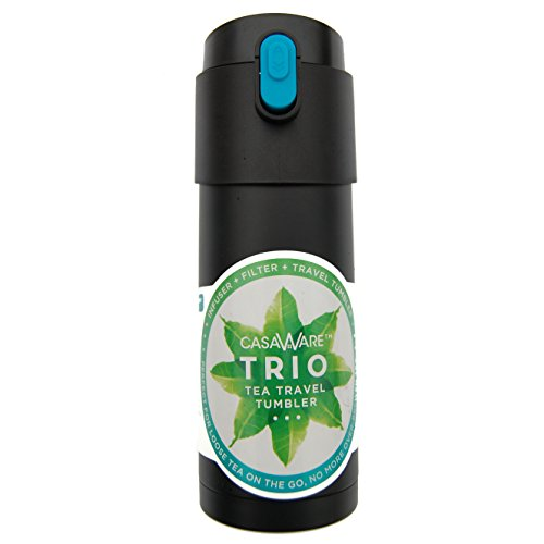119736 Black 12 oz Trio SS Tea Travel Mug