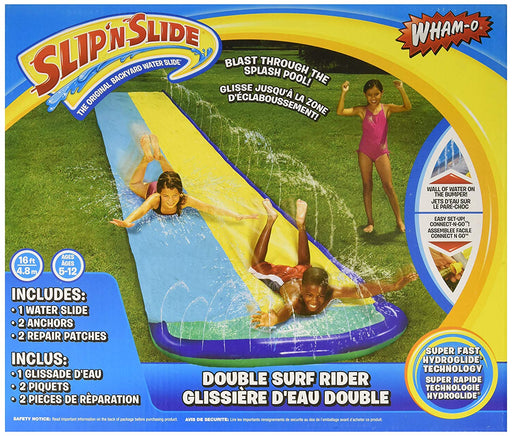 Wham-O Slip 'N Slide Surf Rider Double Sliding Lanes 16ft , color may vary