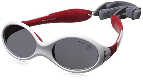 Looping 2 Sunglasses: White/Red with Spectron 4 Baby Lenses