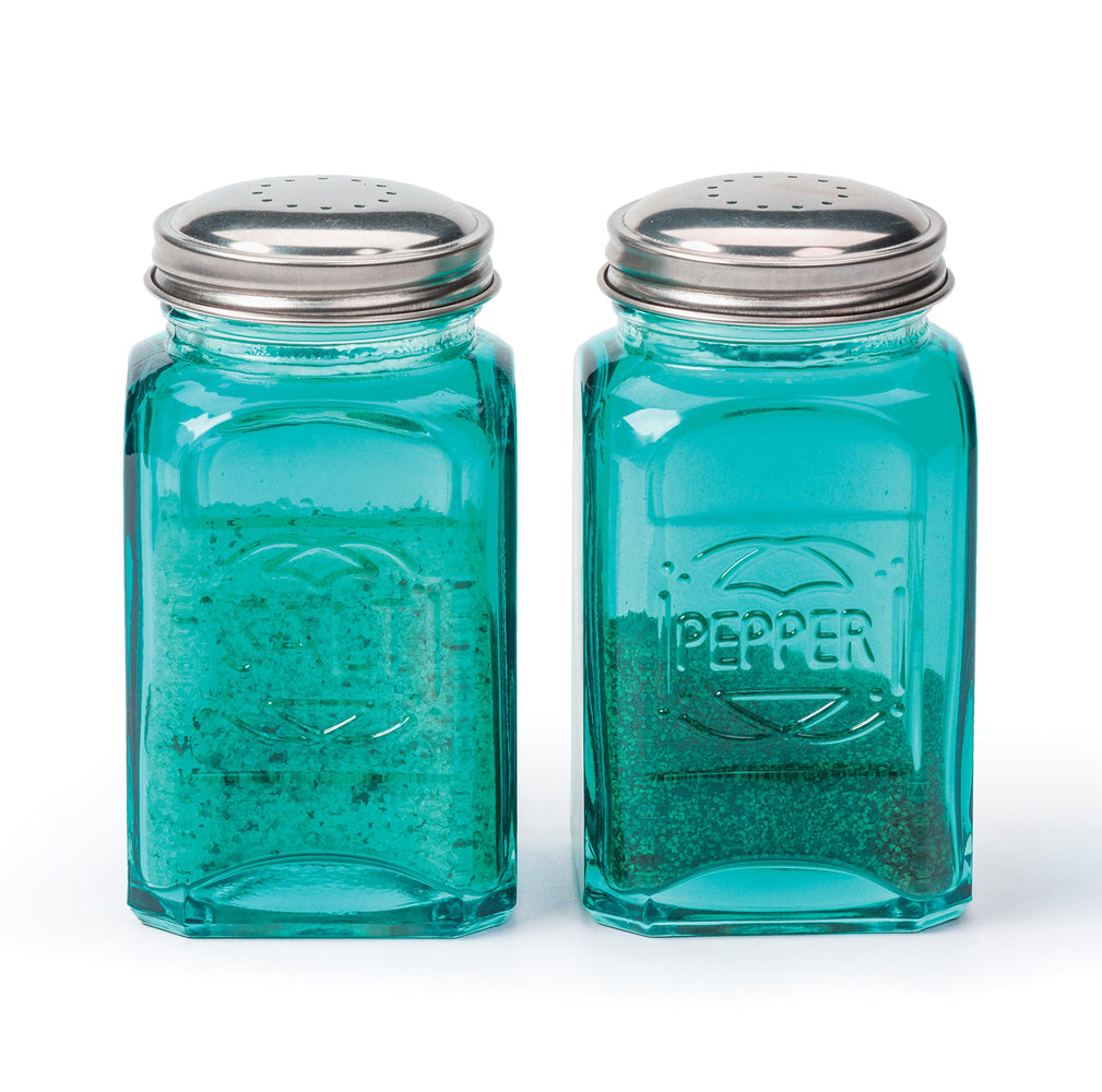 RSVP Retro Salt & Pepper Shakers - Turquoise