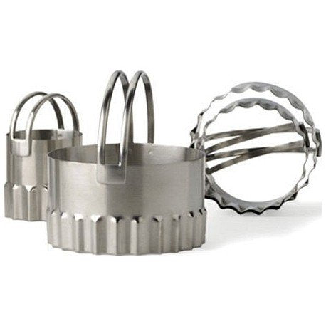 Endurance Round Biscuit Cutters  Rippled (set of 4)