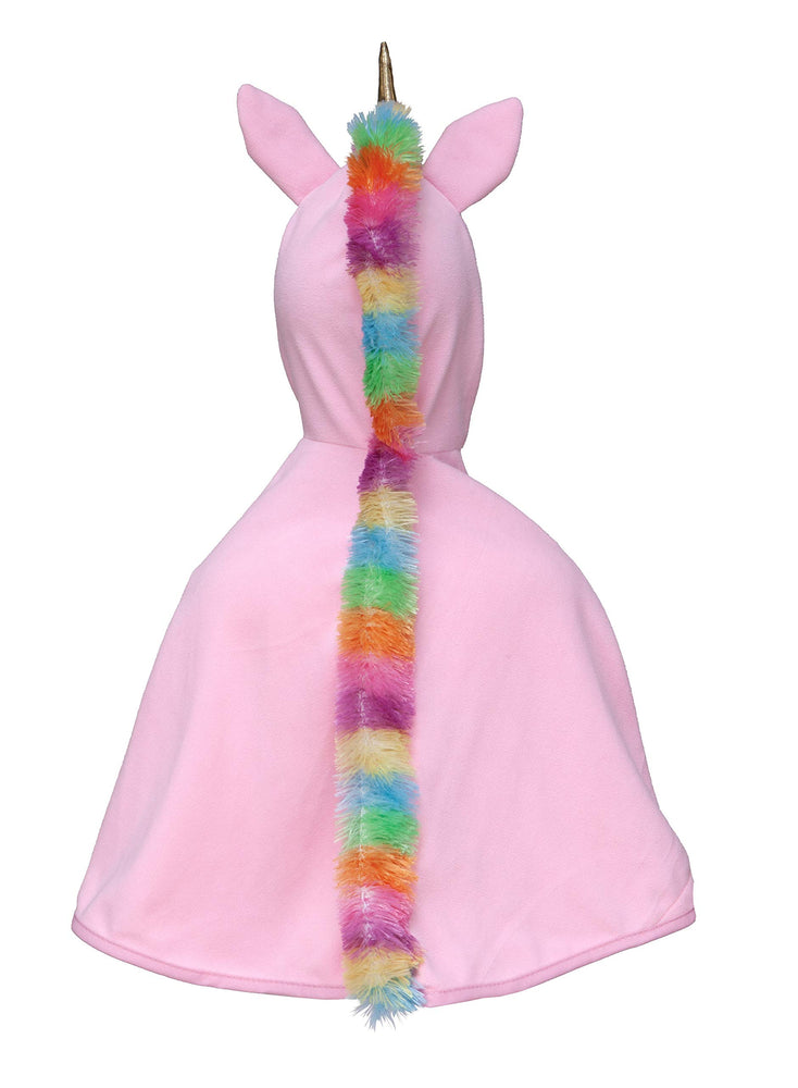 Toddler Unicorn Cape, Pink/Gold, Size 2-3