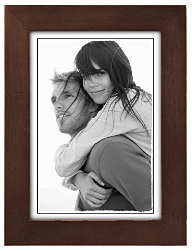 Malden Linear Wood 5-by-7-Inch Picture Frame Walnut