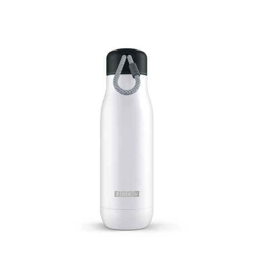 Zoku Stainless Steel Water Bottle 18-Ounce; Pearl White