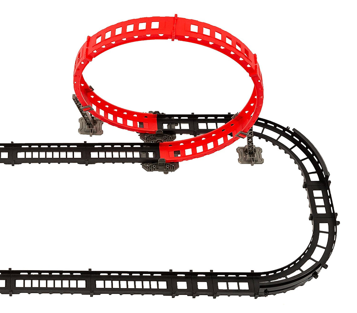 Remote control race track - 3 track designs, over 14' of track, 2 race cars, 2 USB chargers
