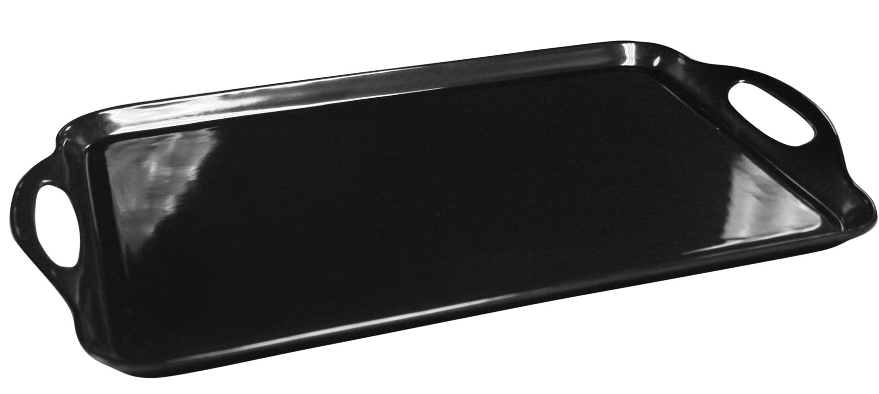 Black - Rectangular Tray