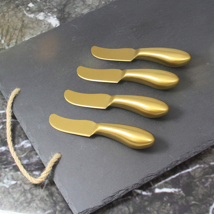 S/4 Gold Cheese Spreaders