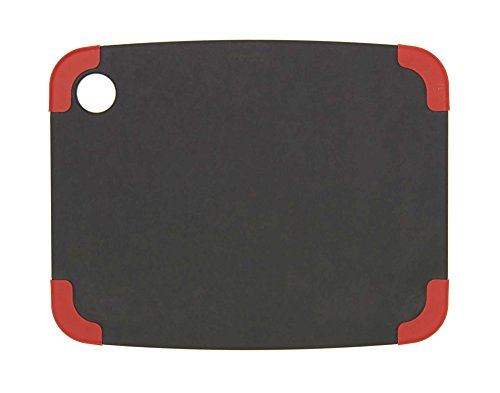 Epicurean Non-Slip Series Cutting Board, 11.5-Inch by 9-Inch, Slate/Red