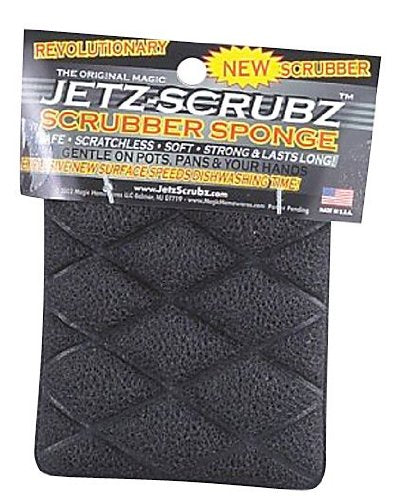 JetzScrubz Eco-Sensitive Combination Magic Scrubber and Sponge, Rectangle, Made in the USA