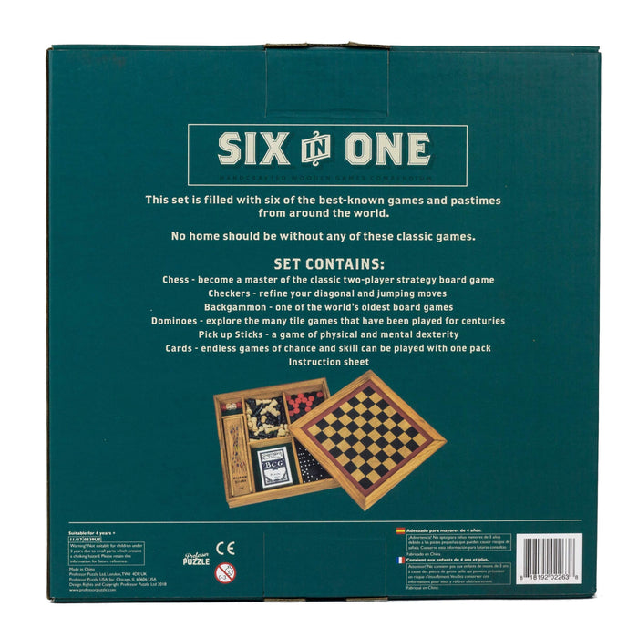 Wooden Games Workshop Six in One