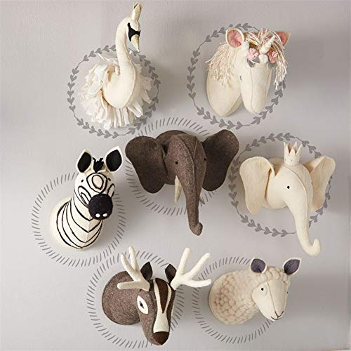 Mud Pie Felt Sheep Wall Mount