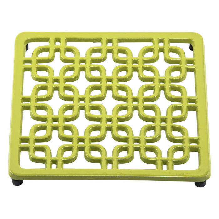 Old Dutch Square Deco Trivet, Oasis Green