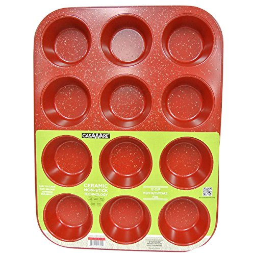 122251 Red G Muffin Pan 12 Cup