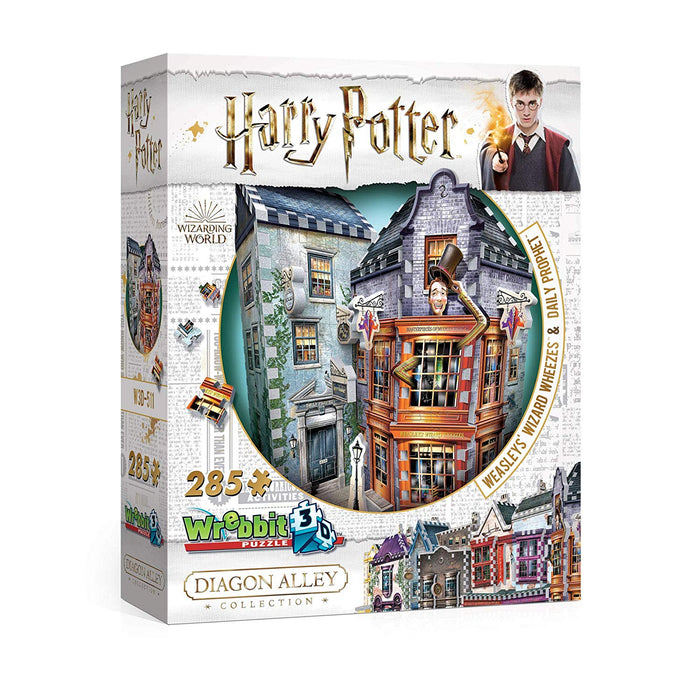 WREBBIT 3D - Harry Potter Weasleys' Wizard Wheezes & Daily Prophet 3D Jigsaw Puzzle - 280Piece, Brown/A