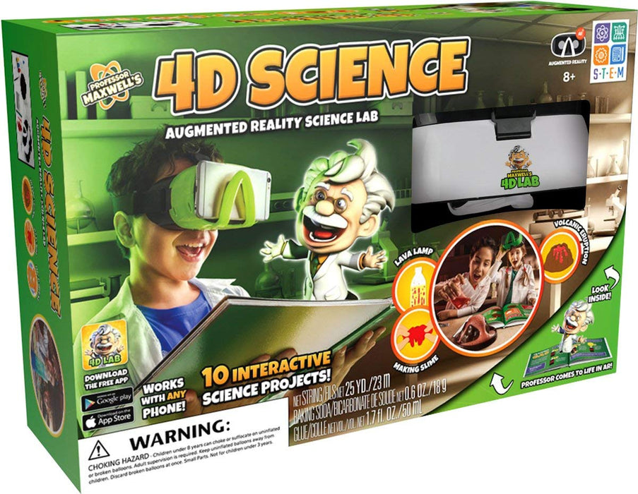 Professor Maxwell's 4D Science Augmented Reality Lab