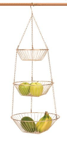 RSVP Endurance 3-Tier 30 Inch Copper Hanging Baskets