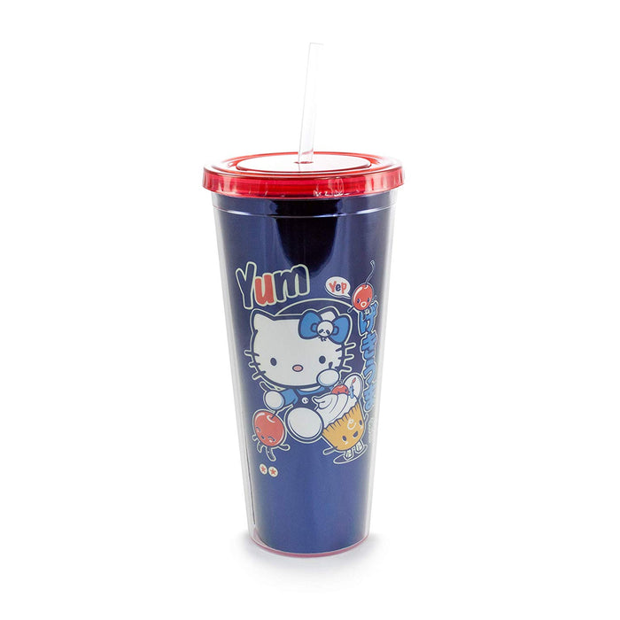 "Hello Kitty ""Yum"" Blue Tumbler"