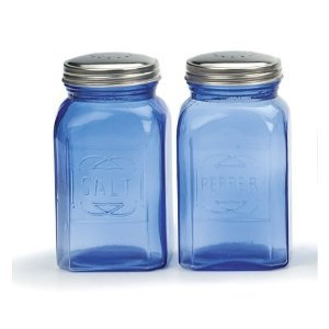 Retro Salt & Pepper Shakers  Blue 8 oz. (.24L)