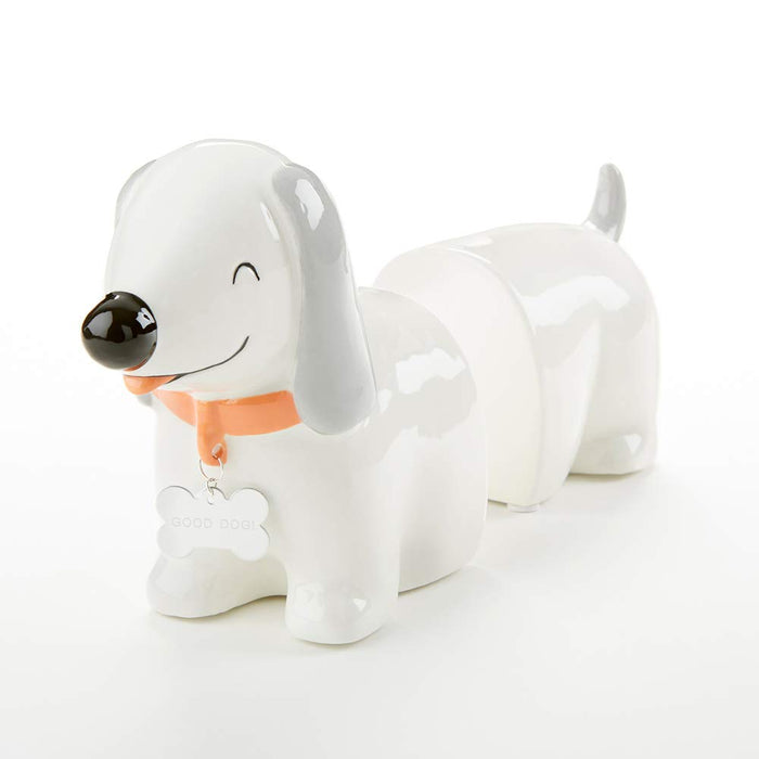 Puppy Dog Dachshund Porcelain Nursery Bookends