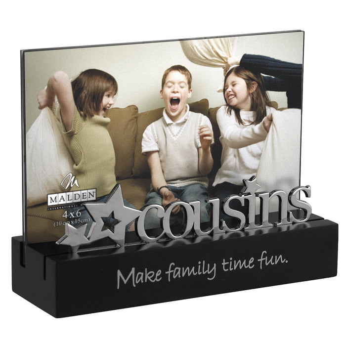 Malden Cousins Desktop Expressions Frame with Silver Word Attachment 4 by 6-Inch