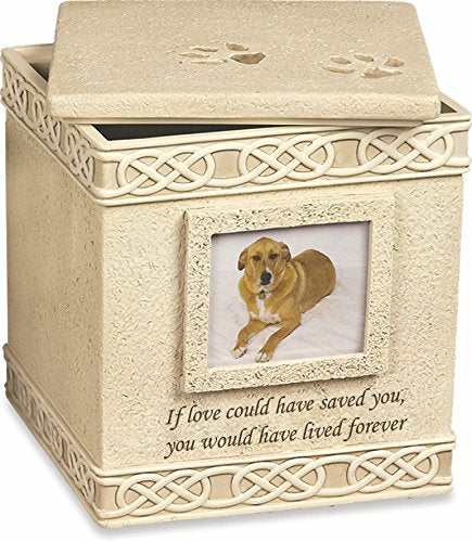 "Pet Urn with Top Lid ""If Love Could Have Saved You"" - EXCLUSIVE"
