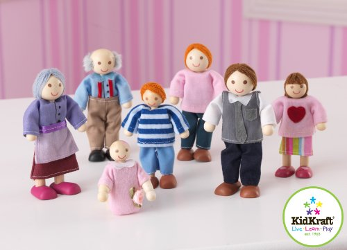 KidCraft Caucasion Doll Family - Set of 7