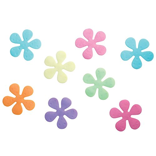 InterDesign Floral Non-Slip Safety Treads for Shower/ Bathtub, 4-Inch, Set of 8, Assorted Rainbow Colors