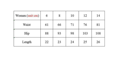womens shorts measure