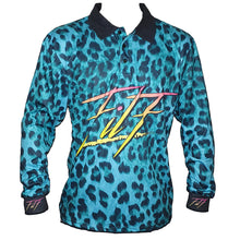 Load image into Gallery viewer, Filf Blue Leopard Fishing Jersey
