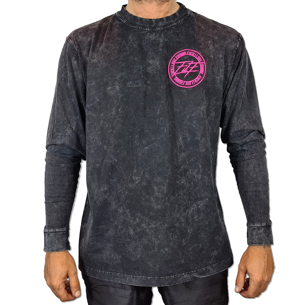 FILF Stone Wash Cotton Long Sleeve BLACK