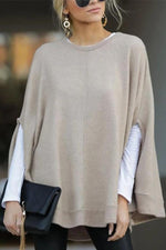 Bat Sleeves Round Neck Blouse