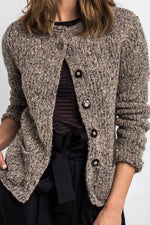 Casual Solid Pockets Buttons Down Knitted Coat