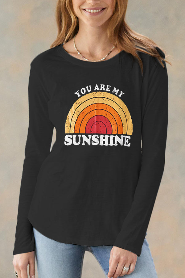 Graphic Print Long Sleeve Casual T-shirt