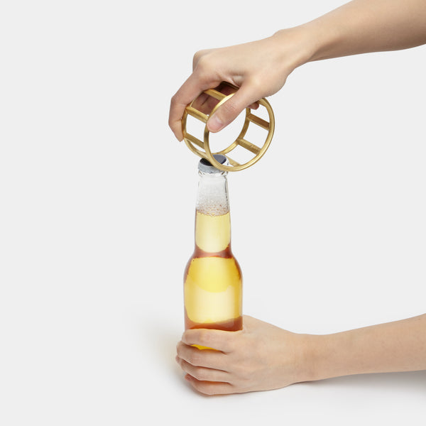bottle opener, bar accessory, modern bottle opener