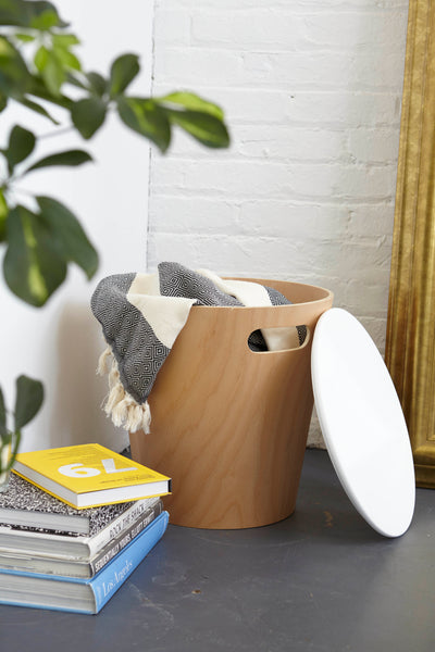 Umbra woodrow storage stool