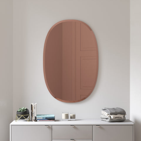 Hub Bevelled Oval Mirror