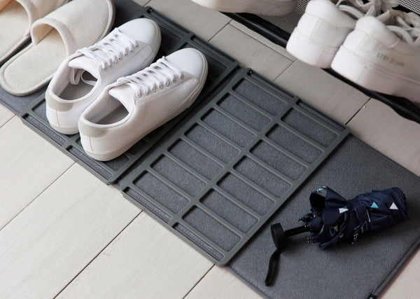 shoe rack, shoe mat, shoe organizer, entryway shoe mat